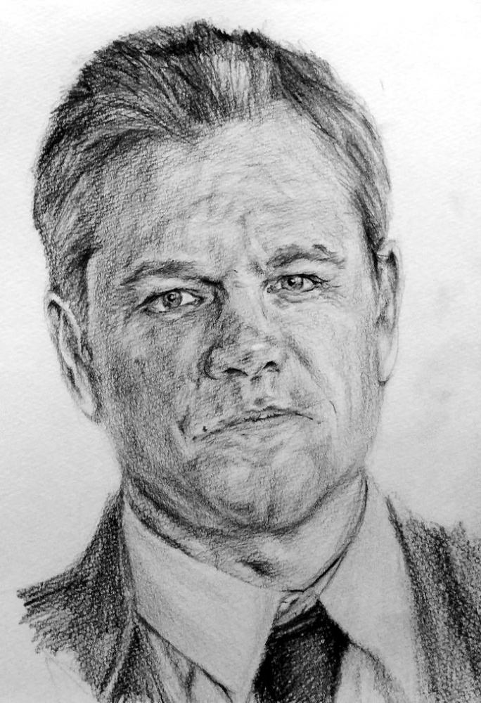 Matt Damon by linshyhchyang